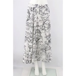 Soft Surroundings Abstract Print Long A-Line Skirt